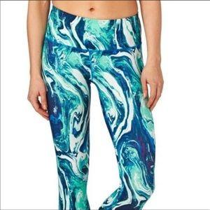 Patagonia Blue Marble Print Paint Swirl Leggings S